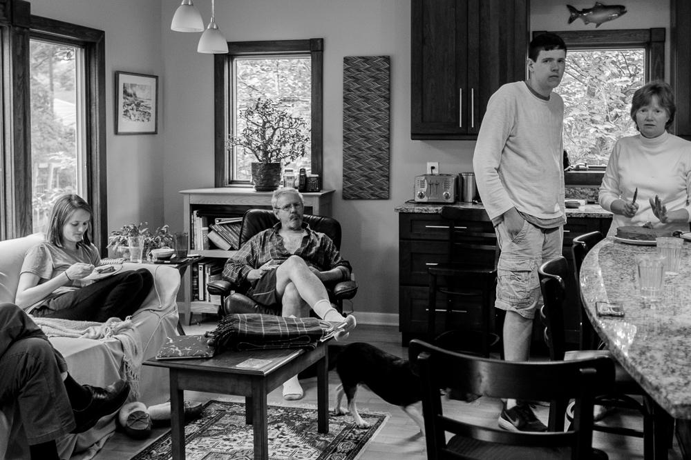 Family at Home, Berkeley Heights, 2017 by Karen Davis